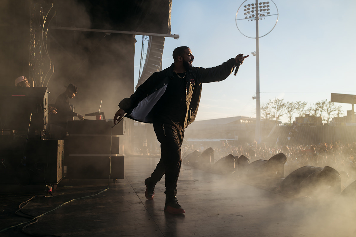 New York City based photographer specializing in live music and portrait photography. Drake during surprise performance at the Mad Decent Block Party at MCU Park in Brooklyn, NY on August 7th, 2016. Photograph by Loren Wohl