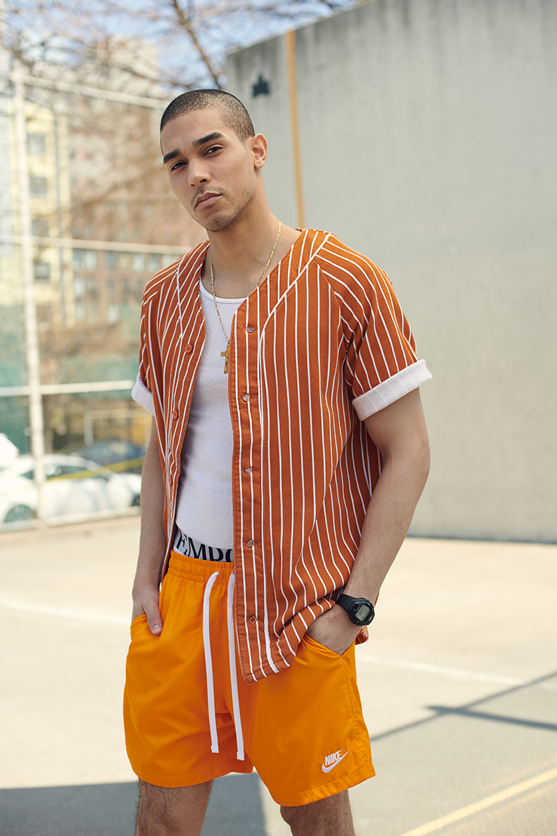 New York City portrait of fashion and athleisure model Andres Robles